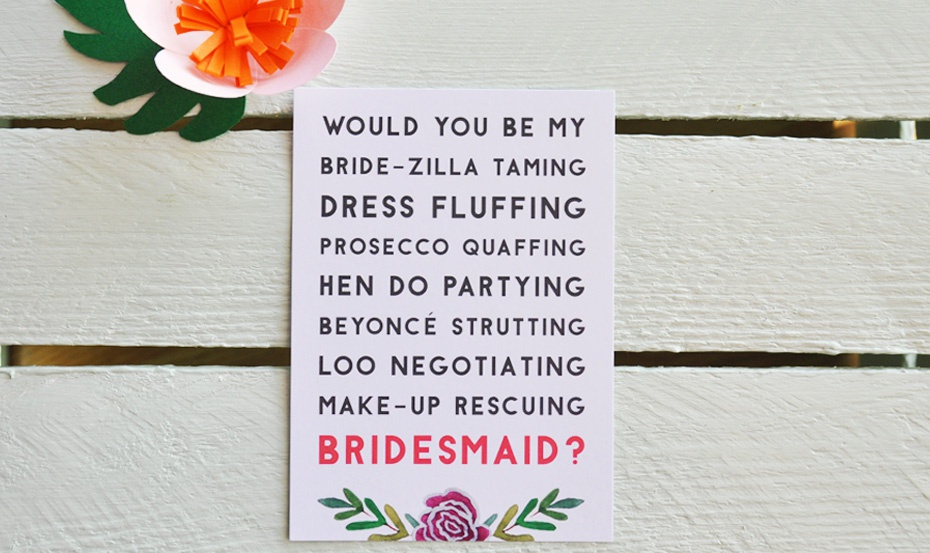 Bride-zilla taming Bridal Party postcard