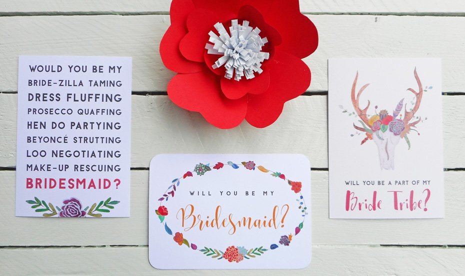 Will you be my Bridesmaid postcards
