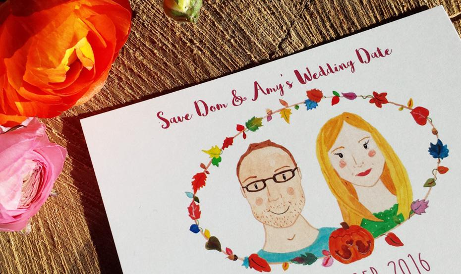 Classic Save our Date couple cropped