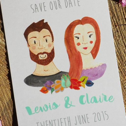 Classic Save our Date couple