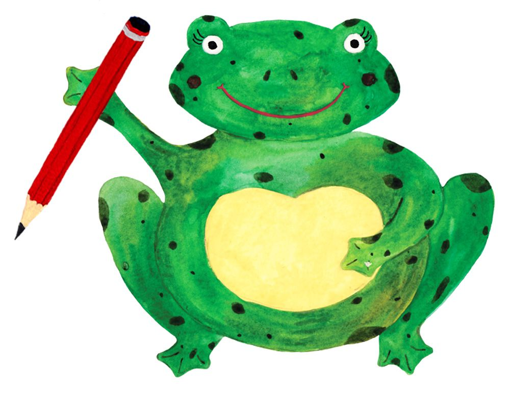 The Frog & Pencil logo