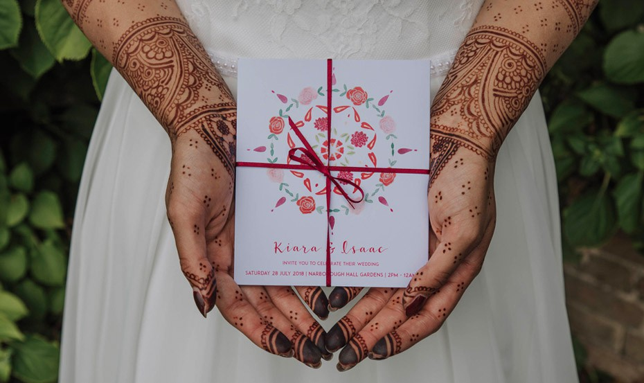 Indian Boho wedding invitation