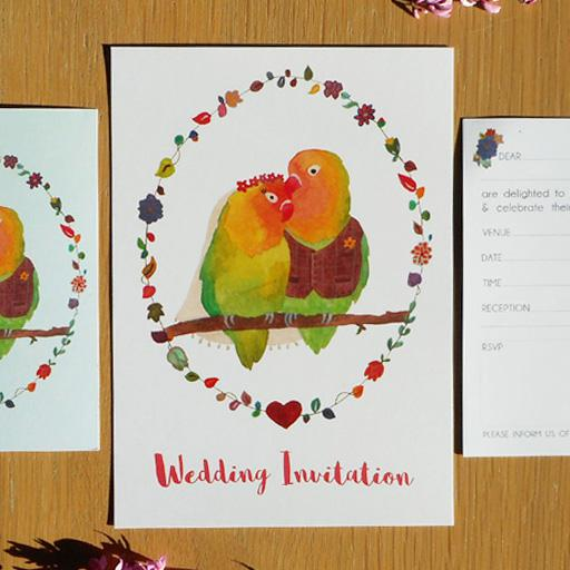 Ready-to-Write Lovebirds set